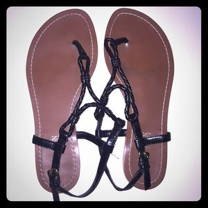 Like new black Lauren by Ralph Lauren sandals